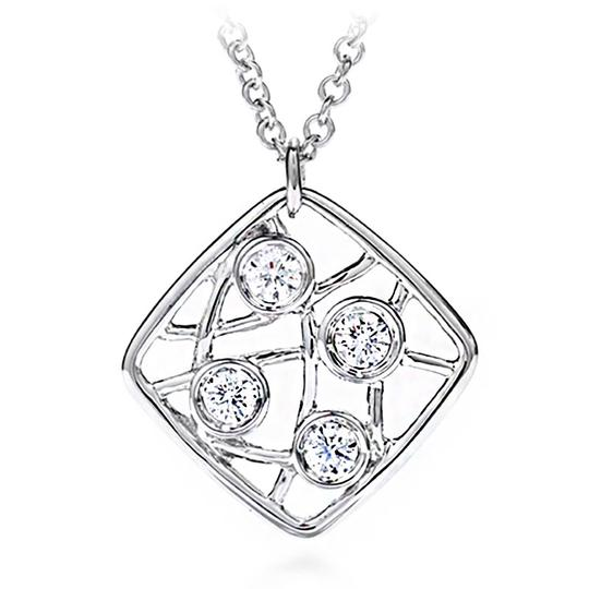 Hearts on Fire Diamond Pendant Necklace On Chain White Gold Image 1