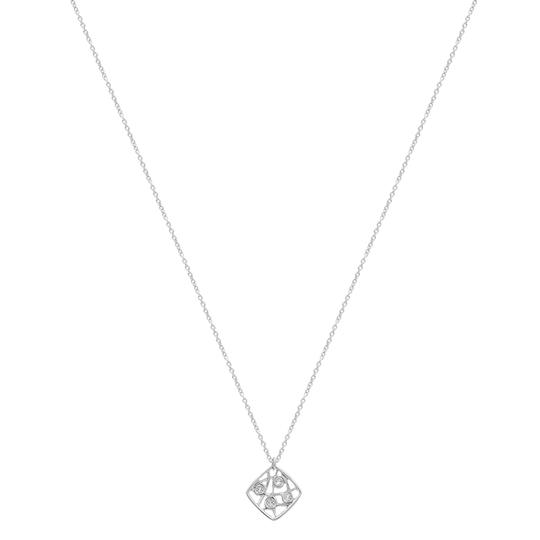 Hearts on Fire Diamond Pendant Necklace On Chain White Gold Image 3