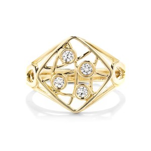 Hearts on Fire Four Stone Diamond Ring