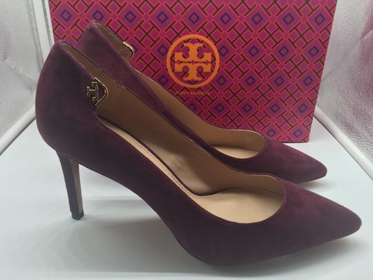 Tory Burch Burgandy Suede New In Box Port Pumps Image 3