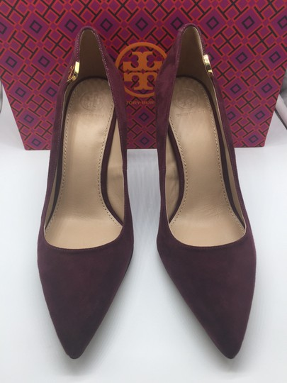 Tory Burch Burgandy Suede New In Box Port Pumps Image 4
