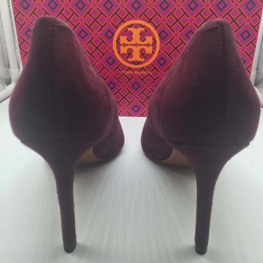 Tory Burch Burgandy Suede New In Box Port Pumps Image 5