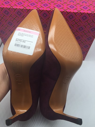 Tory Burch Burgandy Suede New In Box Port Pumps Image 6