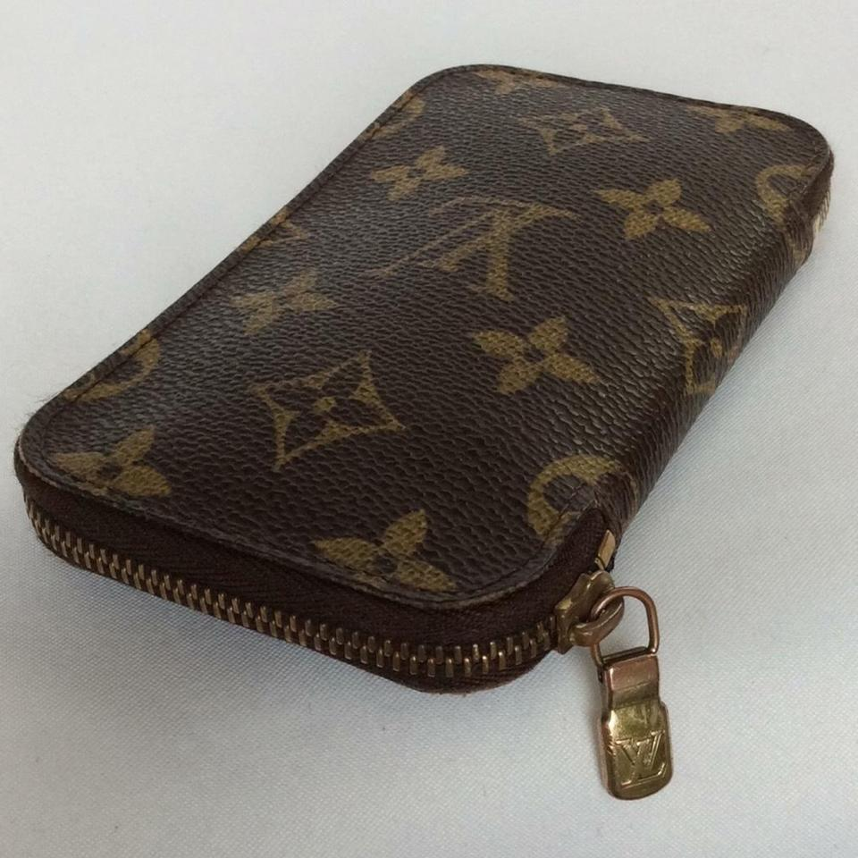 louis vuitton brown vintage monogram zip around 6 key holder wallet tradesy. Black Bedroom Furniture Sets. Home Design Ideas