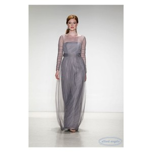 Alfred Angelo Morning Fog Gray Soft Tulle 8622 Modest Bridesmaid/Mob Dress Size 16 (XL, Plus 0x)