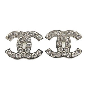 Chanel Crystal Small Classic CC Coco Rhinestone Earrings Timeless Box