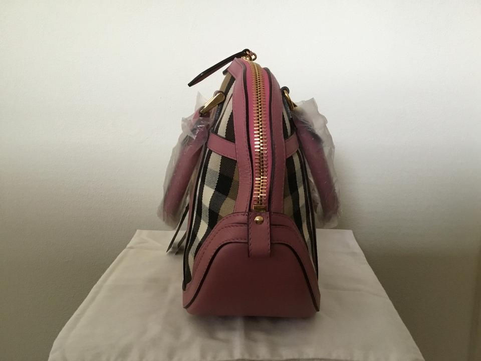 2e8603ec8e6 Burberry Bowling Bridle House Check Small Orchard In Mauve Pink Multi-color  Calfskin Leather Shoulder Bag - Tradesy