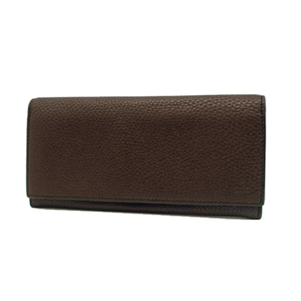 fd63c532c21 Gucci Dark Brown Pebbled Leather Continental Flap 296676 Wallet ...