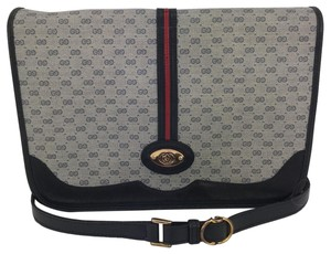 Gucci Vintage RARE Gucci EUC Messenger crossbody bag in micro GG monogram with webbed GG feature Messenger Bag