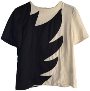 Marc by Marc Jacobs Silk Top Black and white