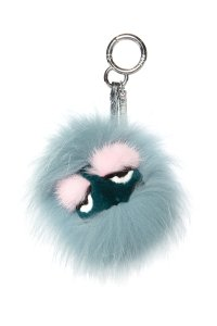 Fendi Fendi Blue & Multi Color Mini Monster Eyelash Bag Bug Charm