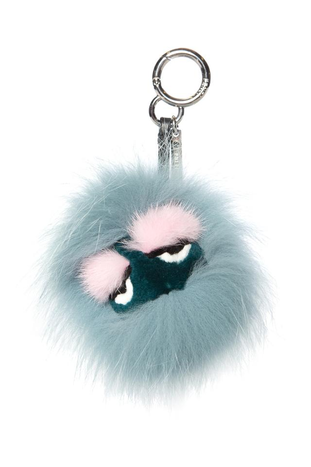964bc72939e1 Fendi Fendi Blue   Multi Color Mini Monster Eyelash Bag Bug Charm Image 0  ...