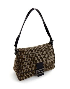 Fendi Monogram Zucca Italy Pochette Vintage Shoulder Bag