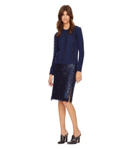 Tory Burch Sequin Pencilskirt Skirt Blue
