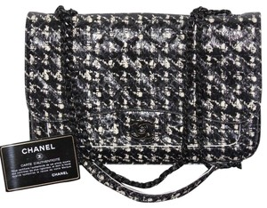 Chanel Houndstooth Snakeskin Python Cross Body Bag