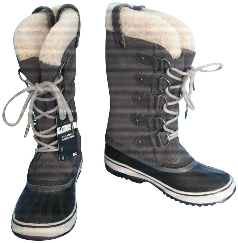 be6f67715 Sorel Grey New Joan Of Arctic Shearling Waterproof Winter Boots ...