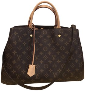 Louis Vuitton Montaigne Lv Monogram Gm Satchel in Brown Gold