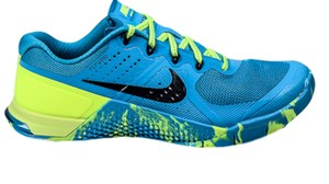 Nike Metcon Cross Trainer Crossfit Weight Lifting blue yellow Athletic