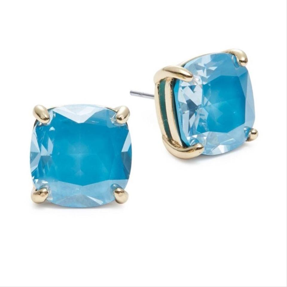 52783afd3 Kate Spade New Turquoise Small Square Stud Earrings - Tradesy