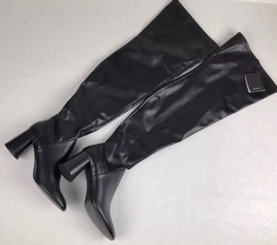 Zara Over The Knee Knee High Comfortable Thick Heel Round Toe black Boots Image 7