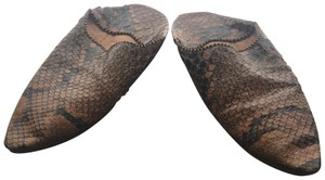 Brother Vellies Tan snakeskin Sandals