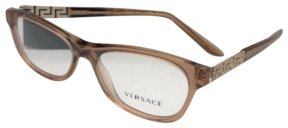422504d63364 Versace New Rx-able Ve 3212-b 617 54-16 140 Brown & Gold W/ Crystals ...