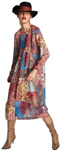 blue Maxi Dress by Zara Bohemian Patchwork Paisley Velvet