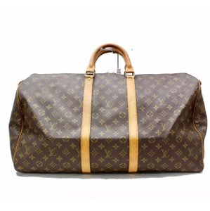 Louis Vuitton Keepall 55 Monogram Keepall Keepall Keepall Carry On Keepall With Strap brown Travel Bag