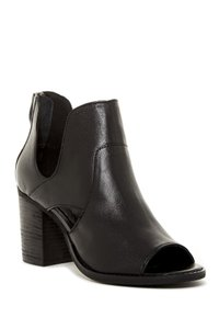 rebels Leather Open Toe Black Boots