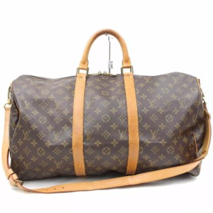 Louis Vuitton Keepall Keepall Bandouliere Monogram Lv Keepall Carry On Brown Travel Bag