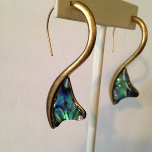 Robert Lee Morris Robert Lee Morris NWOT Abalone Shell In Gold-Tone Earrings