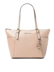 Michael Kors Jet Set Item East West Snap Pocket Jet Set Travel Tote in oyster