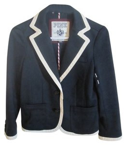 PINK Oxford Uniform University Style Black and White Blazer