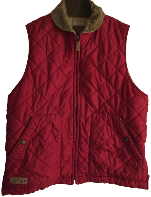 Item - Red Puffer Vest Size 4 (S)