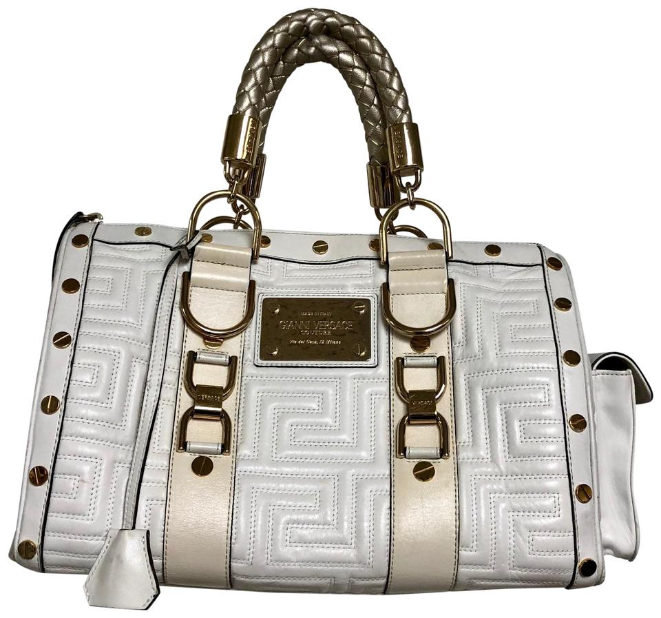 e5637baa85 Versace Gianni Couture Quilted Creme Leather Satchel - Tradesy
