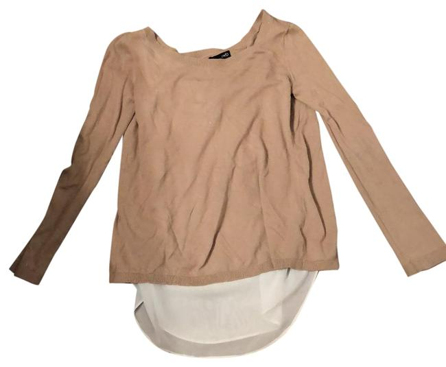 Item - Beige with Ivory Layered Lightweight Sweater Tunic Size 4 (S)