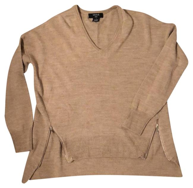 Item - Beige Zippers On Front Tunic Size 4 (S)