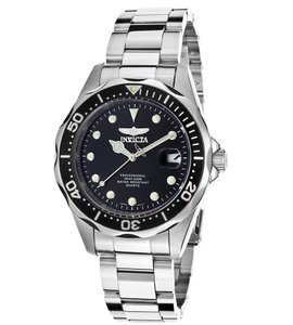 Invicta INVICTA Men's Pro Diver Black Dial Stainless Steel Watch 17046
