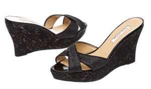 Oscar de la Renta Black Wedges