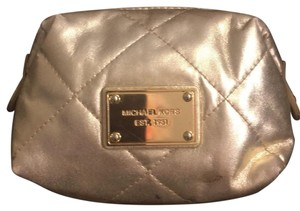 Michael Kors Michael Kors gold makeup bag