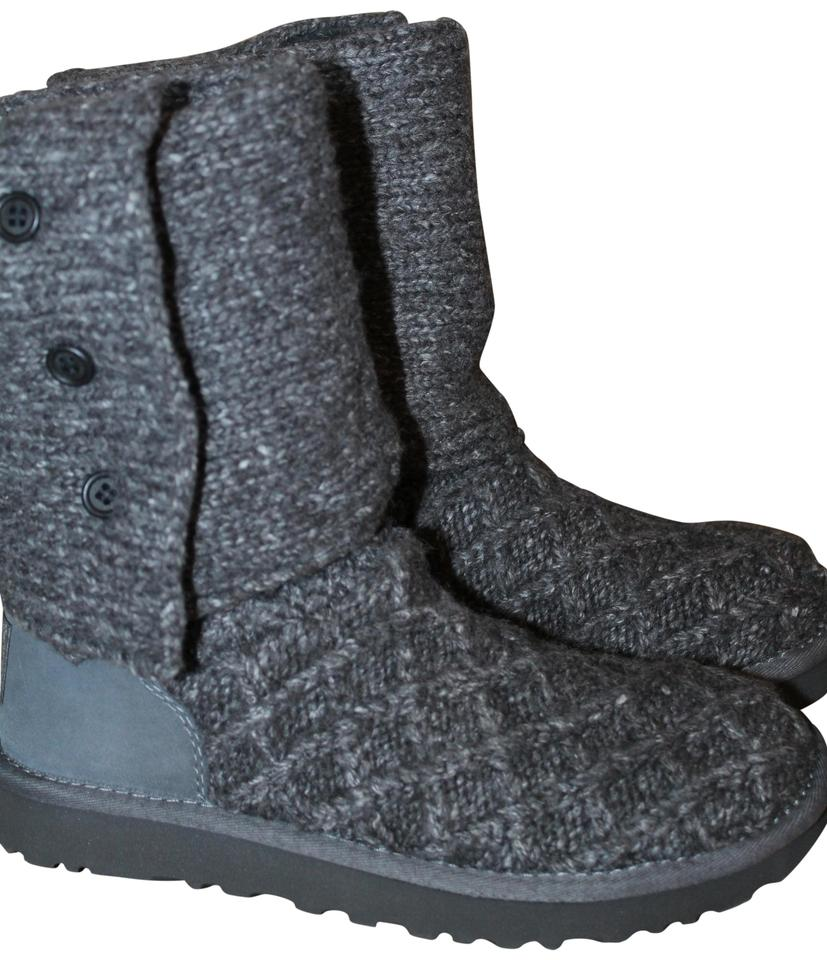 265fc44f8c4 UGG Australia Gray Lattice Cardy Sweater and Suede Boots/Booties Size US 8  Regular (M, B) 21% off retail