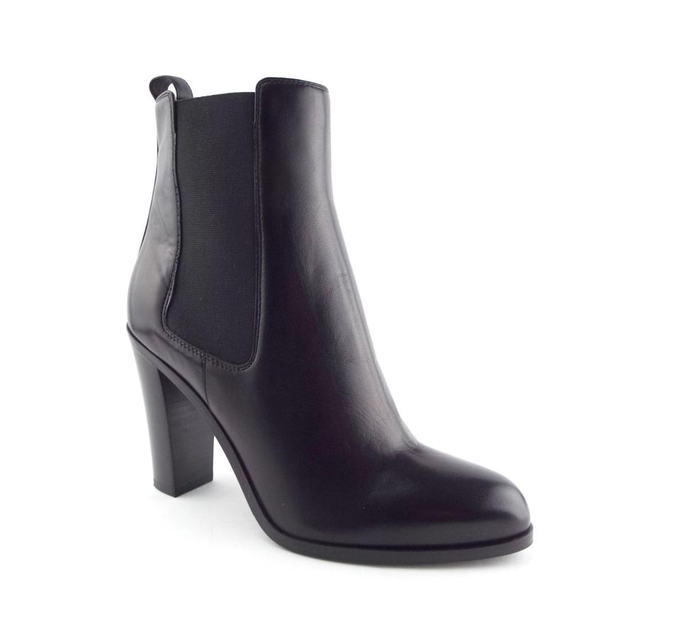 Sergio Rossi Boots/Booties Black Leather Chunky-heel Chelsea Boots/Booties Rossi 2ff18d