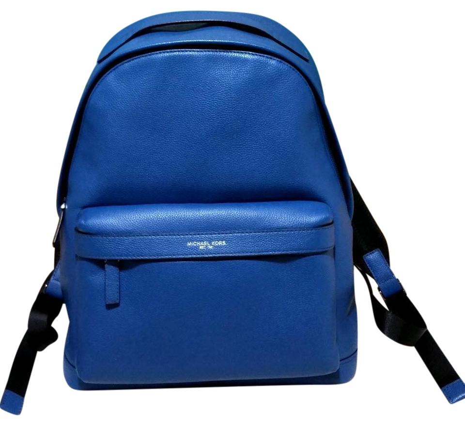 d6c430273837f Michael Kors Mens Stephen Blue Leather Backpack - Tradesy