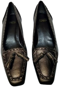 Stuart Weitzman Loafers Spain Pewter Silver Gray Gold Pumps