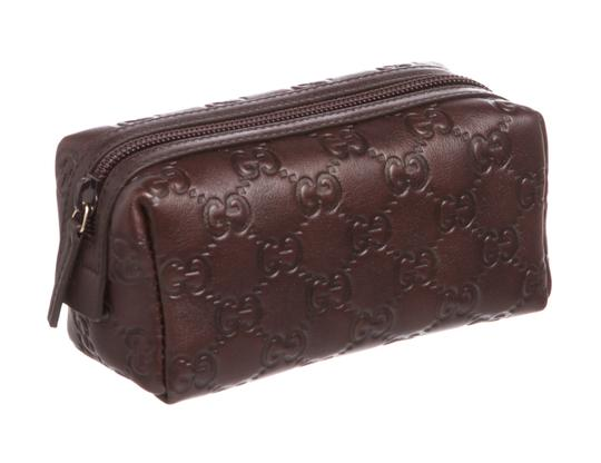 8d9b48c1a2d4 Guccissima Cosmetic Bag 150414. Gucci Brown Guccissima Leather Small Travel  Cosmetic Bag - Tradesy