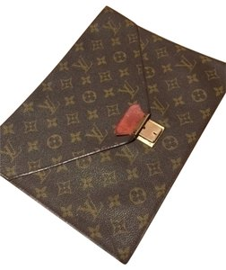 Louis Vuitton Poche Envelope Brown Clutch