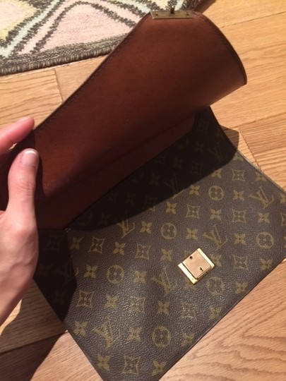 Louis Vuitton Poche Envelope Technology Brown Clutch