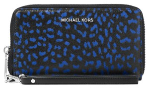 Michael Kors Jet Set Travel Leopard Leather Smartphone Wristlet
