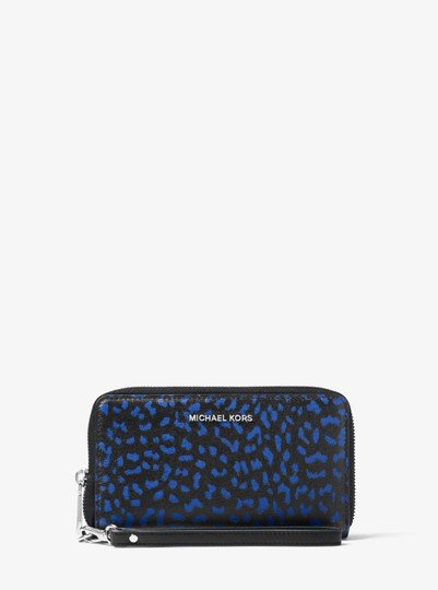 Michael Kors Jet Set Travel Leopard Leather Smartphone Wristlet Image 2