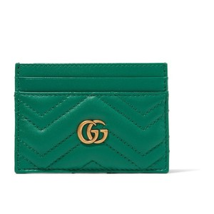 Gucci Gucci marmont quilted leather card case holder